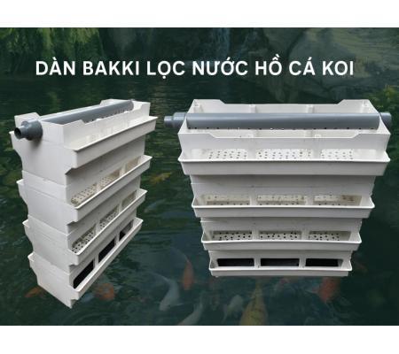 Dàn Bakki Nhựa, Bakki Lọc Dàn Mưa Hồ Cá Koi