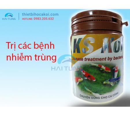 Thuốc chữa nhiễm khuẩn cá koi KS KOI 100gr